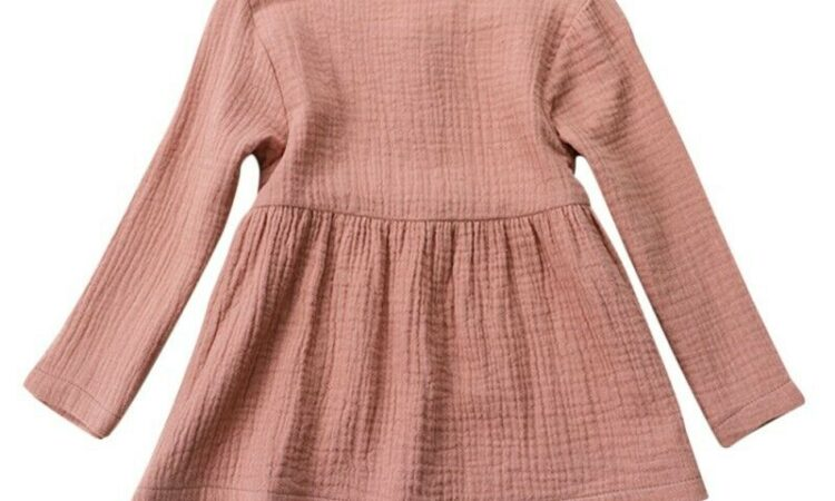 Baby Kids Girl Long Sleeve Princess Party Wear Pageant Dress Tops Clothes Coat