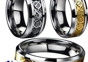 Fashion Men's Silver Gold Black Celtic Dragon Stainless Steel Wedding Band Ring