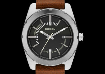 NEW Authentic DIESEL Mens GOOD COMPANY Brown Leather Black Dial Watch DZ 1631
