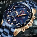 LIGE 2020 New Fashion Mens Watches with Stainless Steel Top Brand Luxury Watch