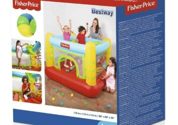 FISHER PRICE JUMPTACULAR BOUNCER BY BESTWAY 93542 1.75M X 1.73M X 1.14M