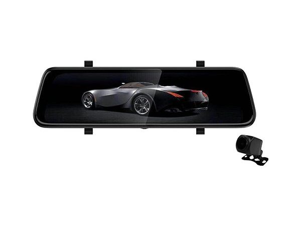 """9.3"""" TOUCHSCREEN REARVIEW MIRROR KIT with DVR"""