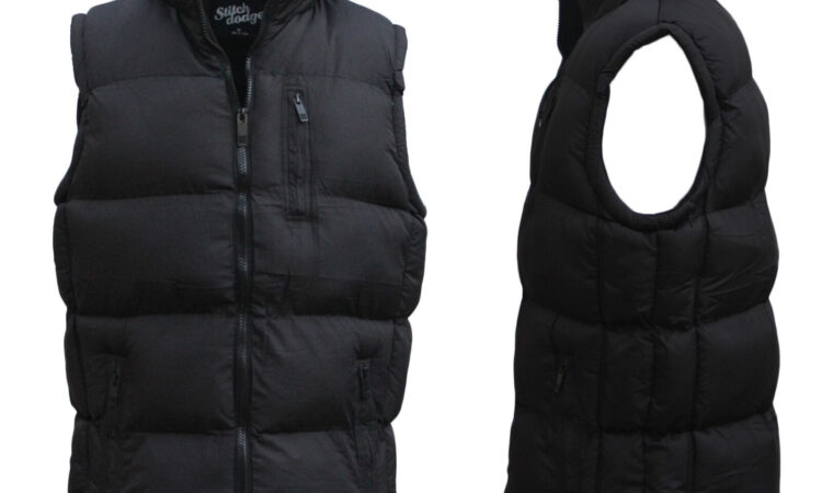 New Men's Thick Puffy Puffer Sleeveless Jacket Winter Thick Vest Quilted Jacket