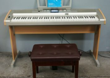 Yamaha DGX-505 Portable Grand Piano W/ Stand, Sustain Pedal & Seat