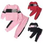 Kids Girls Soft Winter Long Sleeve Top Pants Casual Clothes Outfit Tracksuit Set