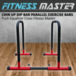 Chin Up Dip Parallel Bar Dips Exercise Push Equaliser Cross Parallette Stand